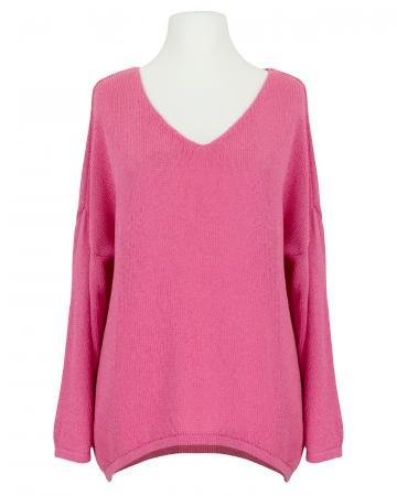 Pullover V-Ausschnitt, pink (Bild 1)