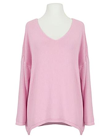 Pullover V-Ausschnitt, rosa (Bild 1)