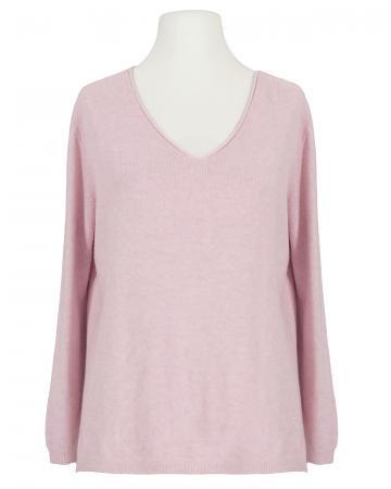 Pullover V-Ausschnitt, rosa