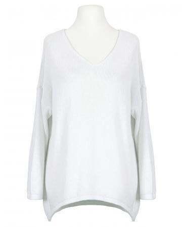 Pullover V-Ausschnitt, weiss