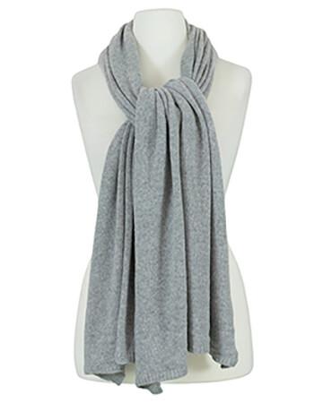 Schal mit Kaschmir, grau
