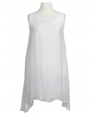 Kleid mit Seide A-Form, weiss (Bild 1)