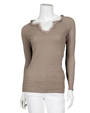 Shirt langarm, taupe (Bild 1)