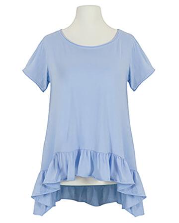Shirt A-Linie, blau
