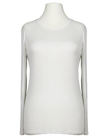 Shirt langarm, weiss