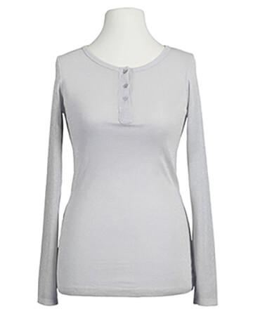 Shirt langarm mit Lurex, grau