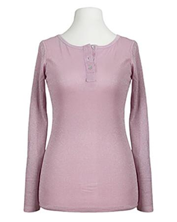 Shirt langarm mit Lurex, rosa