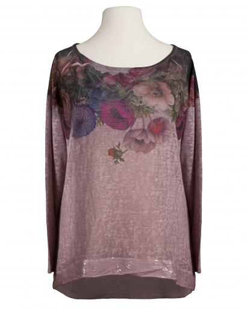 Shirt Blütenprint, rosa