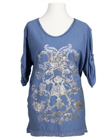 Shirt mit Print, blau