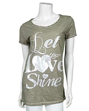 Shirt mit Print, khaki (Bild 1)