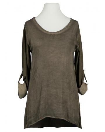 Shirt mit Seide, braun (Bild 1)