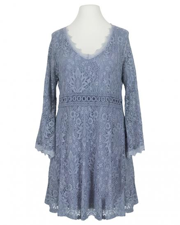Spitzenkleid mit Baumwolle, blau