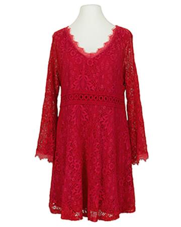 Spitzenkleid mit Baumwolle, rot