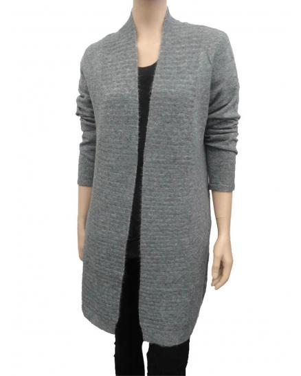 Strick Long Cardigan, grau (Bild 1)