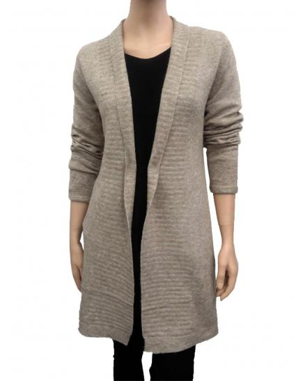 Strick Long Cardigan, taupe