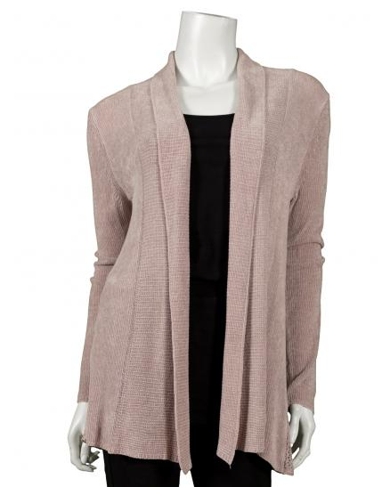 Strickjacke aus Chinille, rosa