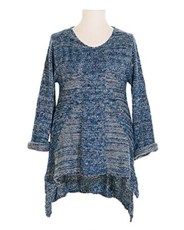 Stricktunika Pullover, blau (Bild 1)