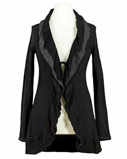 Sweat Cardigan, schwarz