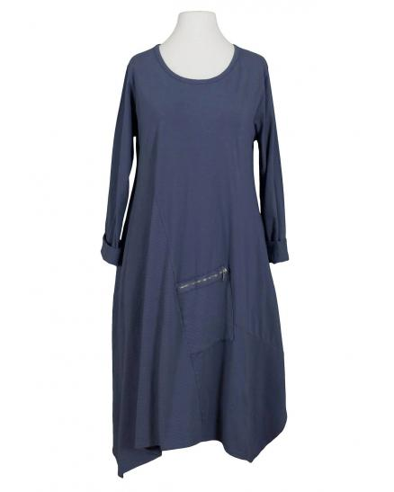 Sweat Kleid A Schnitt, jeansblau