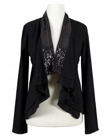 Cardigan Bolero Stil, schwarz (Bild 1)