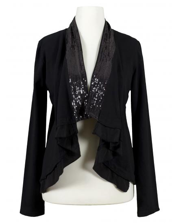 Sweat Cardigan Bolero Stil, schwarz
