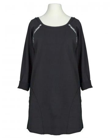 Damen Sweatshirt mit Pailletten, schwarz