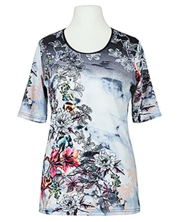 T-Shirt Blumenprint, bunt
