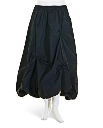 Taftrock Ballonform, schwarz