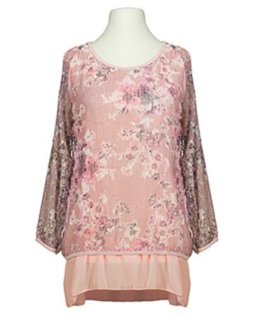 Tunika Blütenprint, rosa