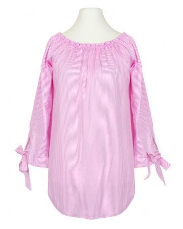 Tunika Bluse Carmen Ausschnitt, rosa
