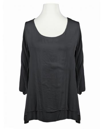 Tunika Bluse Lagenlook, schwarz (Bild 1)