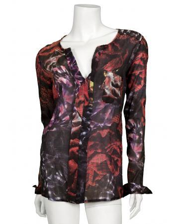 Tunika Bluse mit Print, multicolor