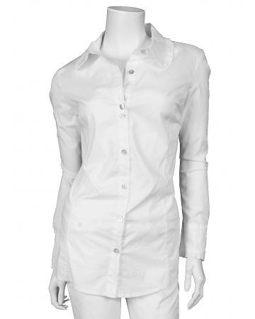 Tunika Bluse mit Rüschen, weiss (Bild 1)