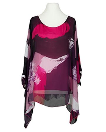 Tunika Bluse mit Seide, multicolor
