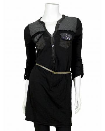 Tunika im Blusenstil, schwarz