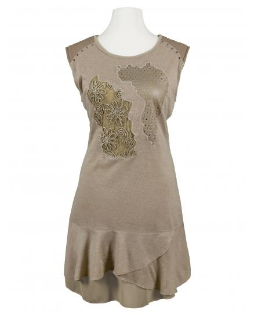 Tunika Kleid, beige