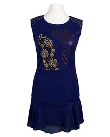 Tunika Kleid, blau