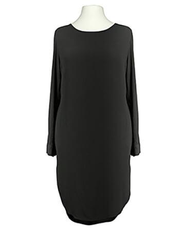 Damen Tunika Kleid Blusenstil, schwarz