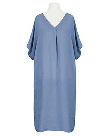 Tunika Kleid Leinen, blau