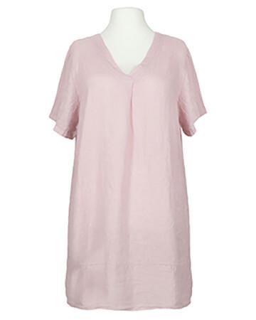 Tunika Kleid Leinen, rosa