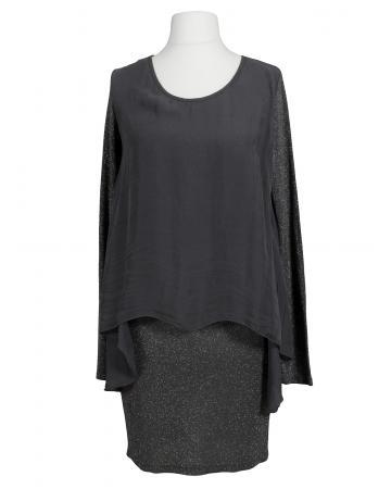 Tunika Kleid Lurex, grau