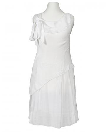 Tunika Kleid mit Seide, weiss