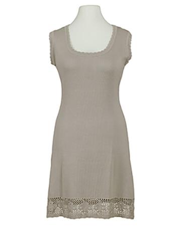 Tunika Kleid mit Spitze, taupe (Bild 1)