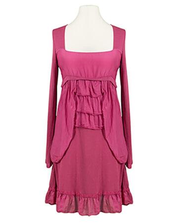 Tunika Kleid mit Volant, beere (Bild 1)