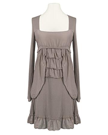Tunika Kleid mit Volant, taupe
