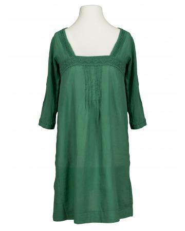 Damen Tunika mit Häkelspitze, grün