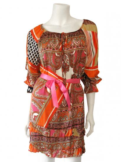 Tunika mit Print, orange multicolor (Bild 1)