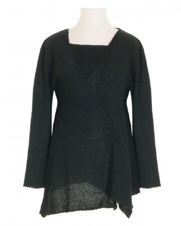 Tunika Pullover, schwarz
