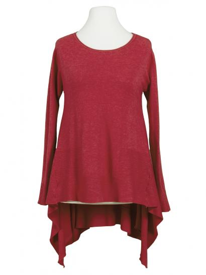 Tunika Pullover A-Linie, rot