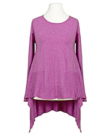 Tunika Pullover A-Linie, violett